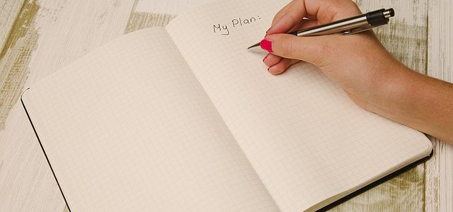 notebook with my plan
